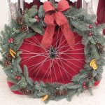 Christmas Wreath - Bicycle wheel!